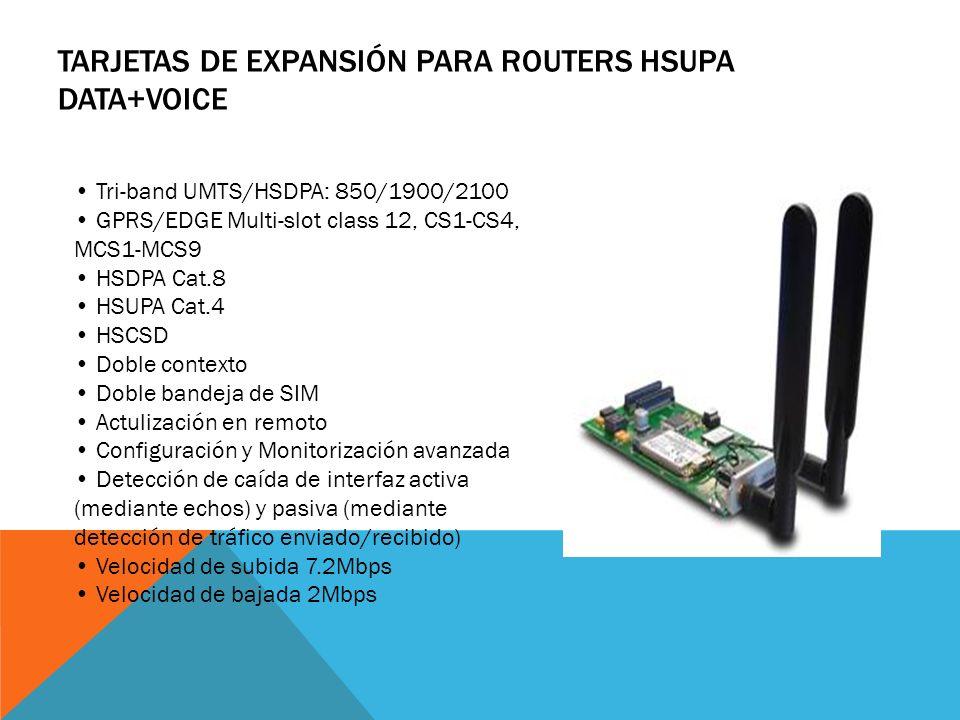 Tarjetas de Expansión para Routers HSUPA Data+Voice