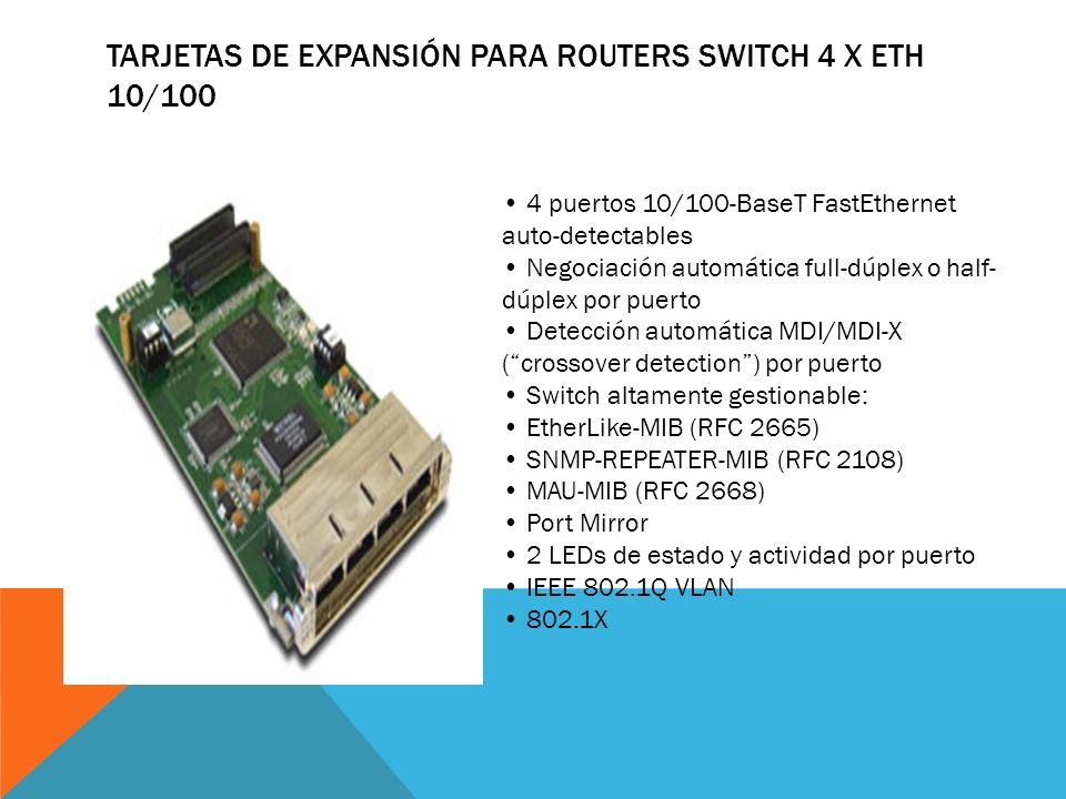 Tarjetas de Expansión para Routers Switch 4 x Eth 10/100