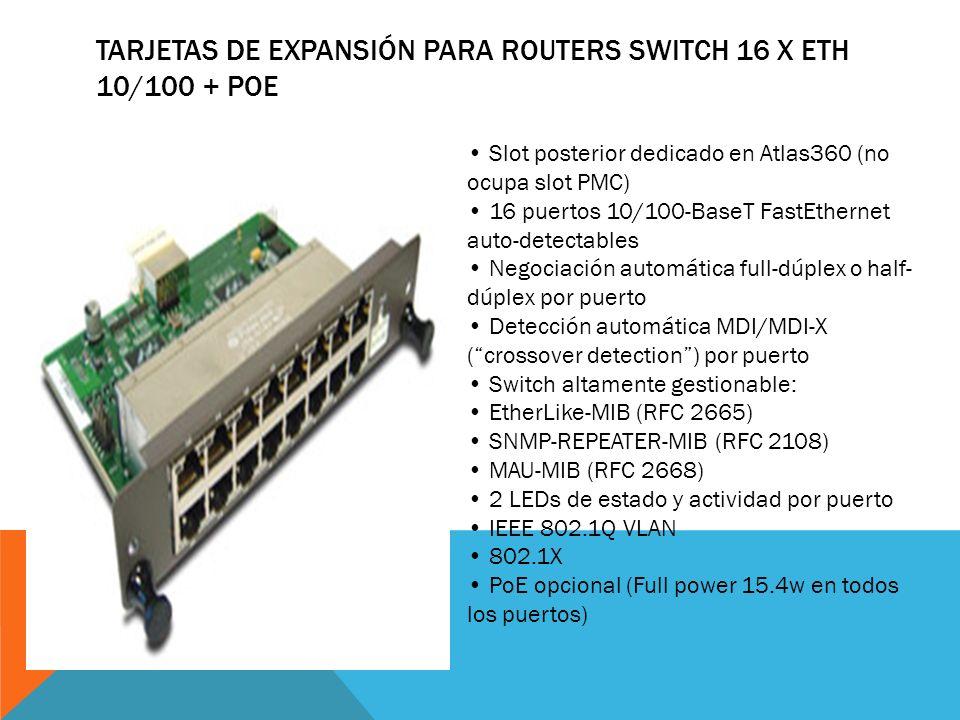 Tarjetas de Expansión para Routers Switch 16 x Eth 10/100 + PoE