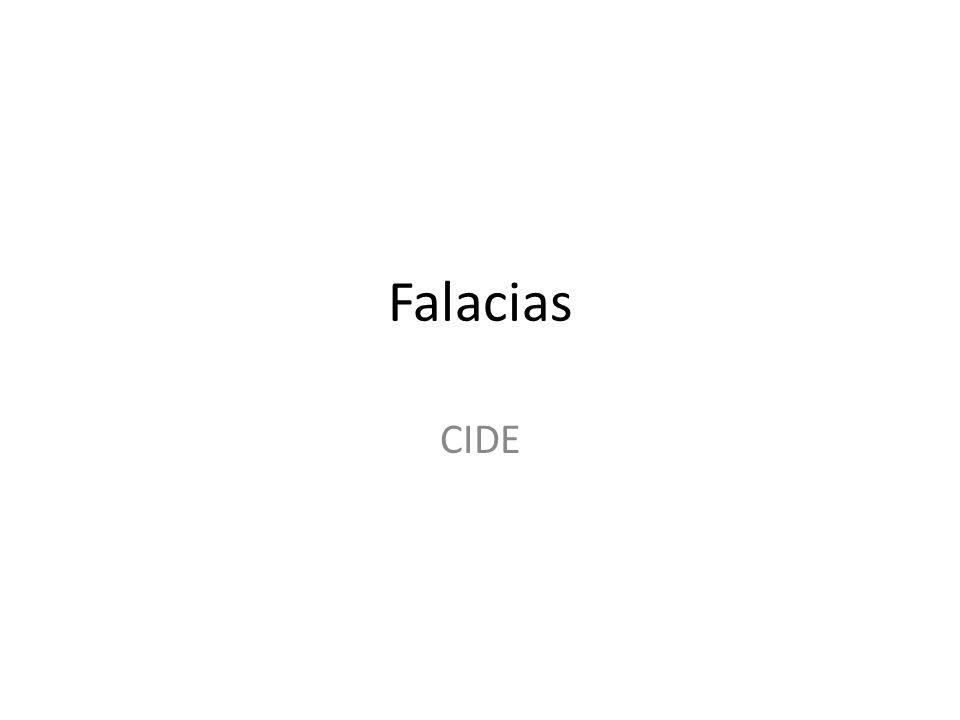 Falacias CIDE