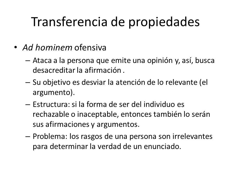 Transferencia de propiedades