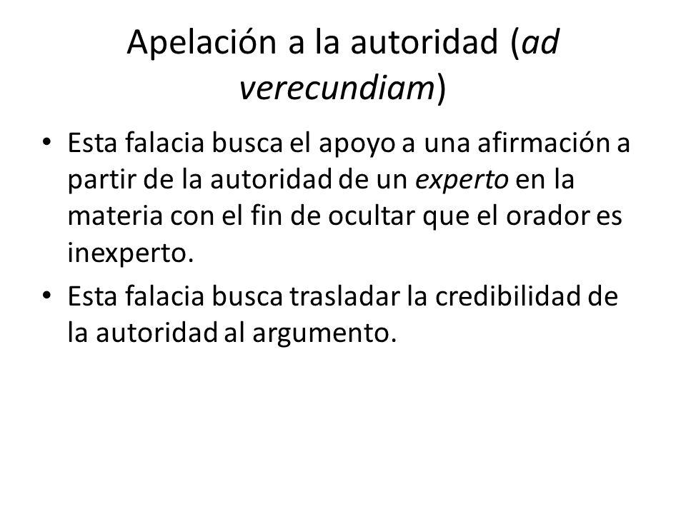 Apelación a la autoridad (ad verecundiam)