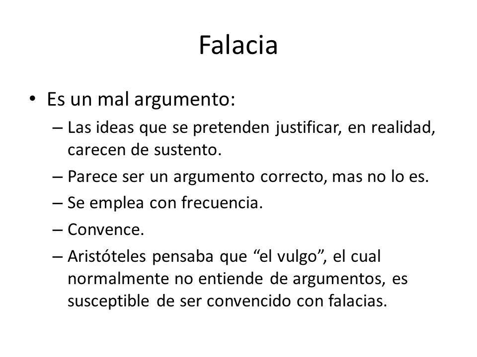 Falacia Es un mal argumento: