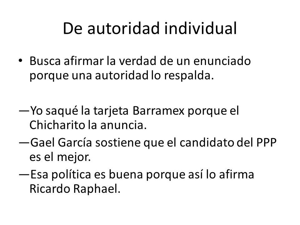 De autoridad individual