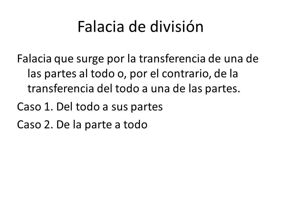 Falacia de división