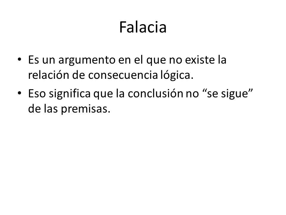 FalaciaEs un argumento en el que no existe la relación de consecuencia lógica.
