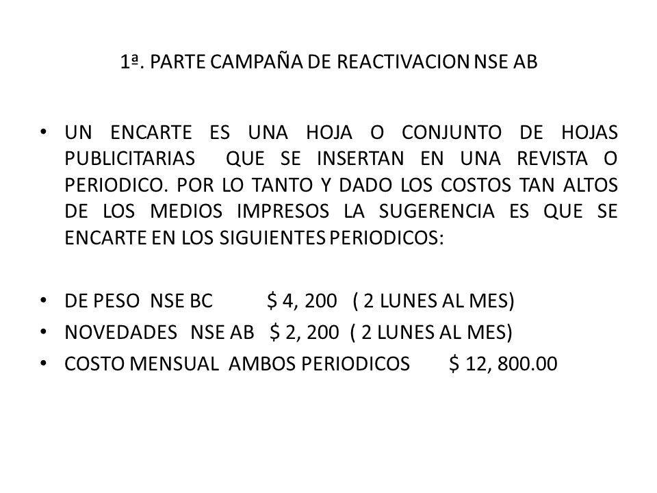 1ª. PARTE CAMPAÑA DE REACTIVACION NSE AB