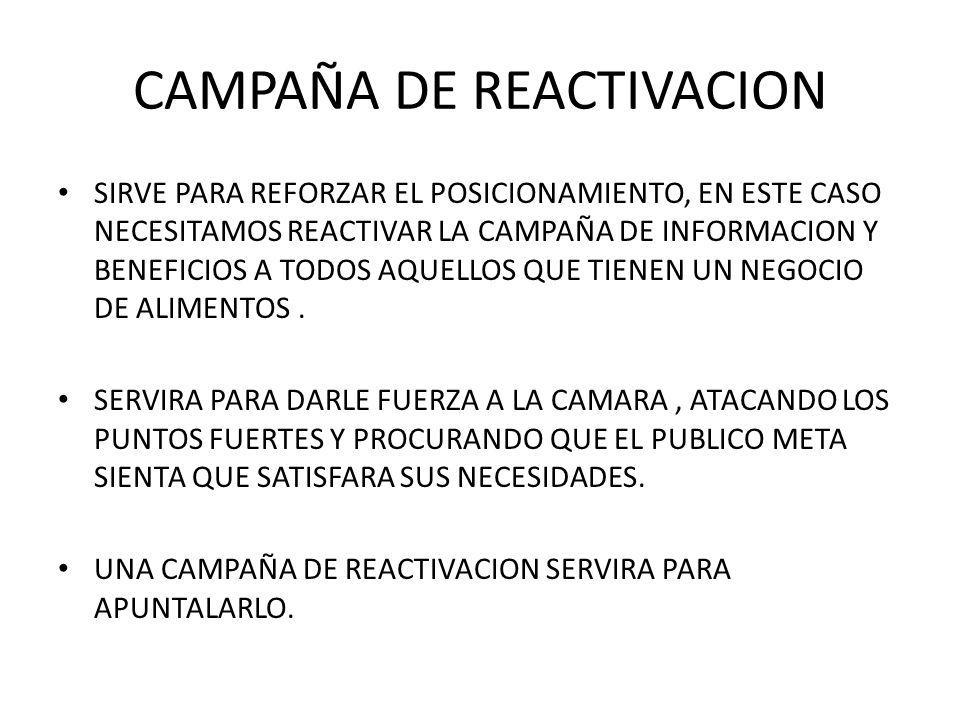 CAMPAÑA DE REACTIVACION