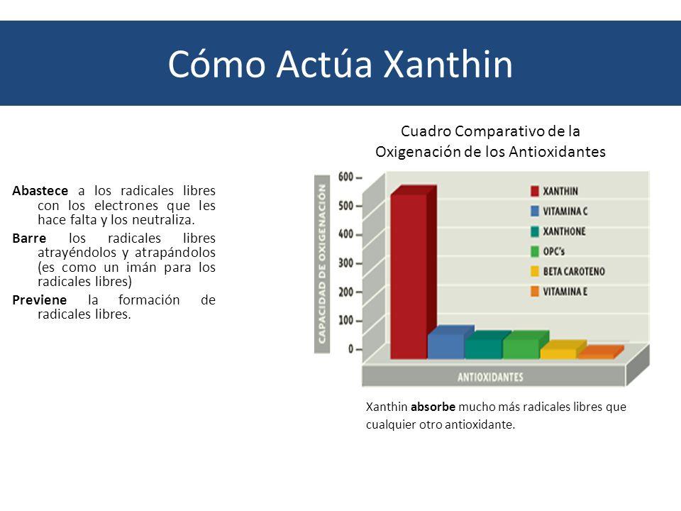 Cuadro Comparativo de la Oxigenación de los Antioxidantes