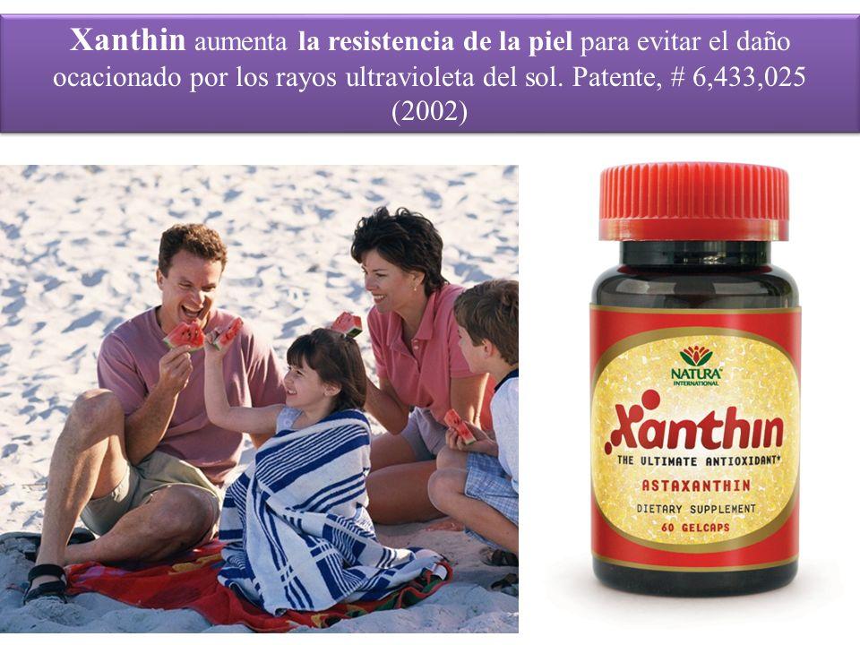 Xanthin aumenta la resistencia de la piel para evitar el daño ocacionado por los rayos ultravioleta del sol.