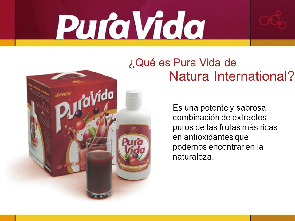 ¿Qué es Pura Vida de Natura International