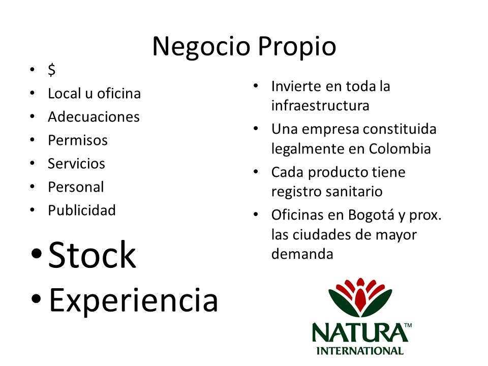 Stock Experiencia Negocio Propio $ Local u oficina