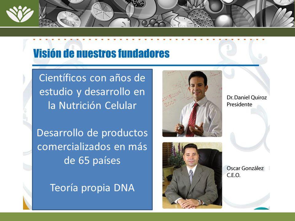 Científicos con años de estudio y desarrollo en la Nutrición Celular