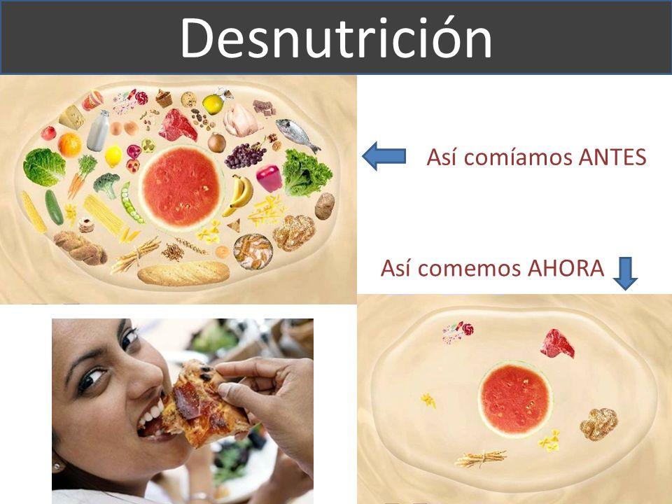 Desnutrición Así comíamos ANTES Así comemos AHORA