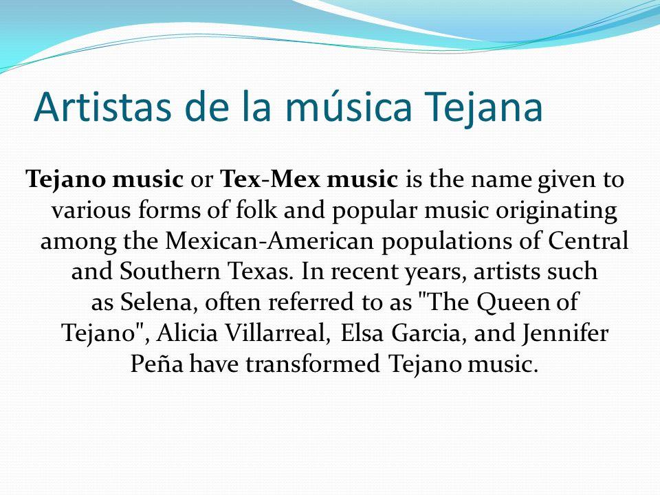 Artistas de la música Tejana