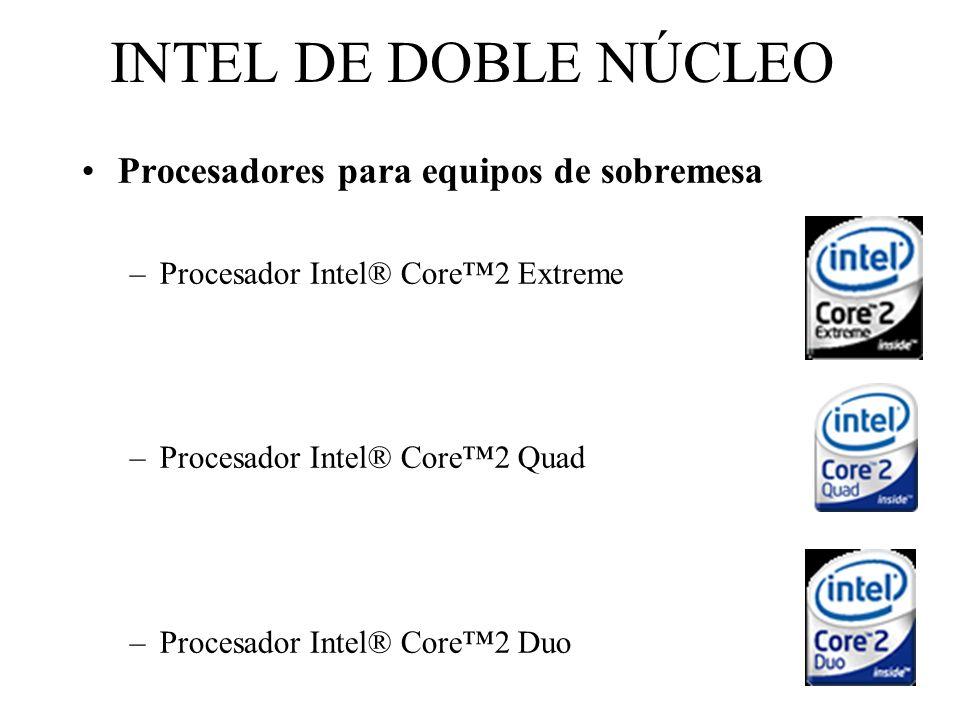 INTEL DE DOBLE NÚCLEO Procesadores para equipos de sobremesa