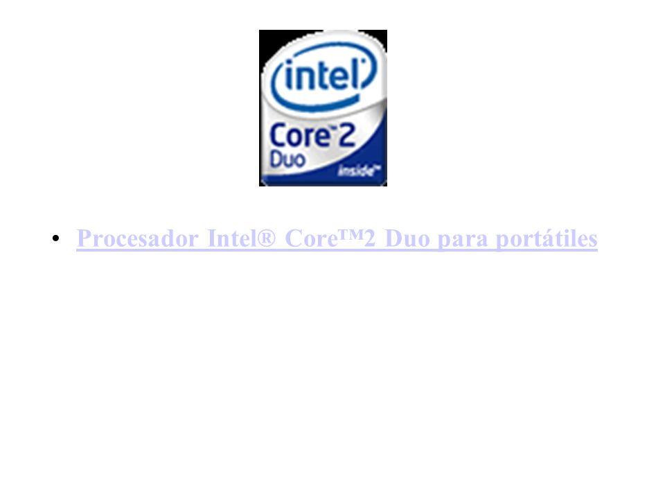 Procesador Intel® Core™2 Duo para portátiles