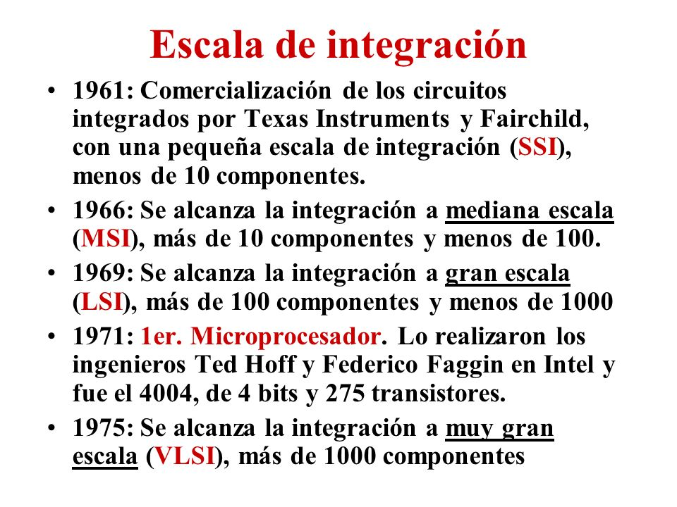 Escala de integración