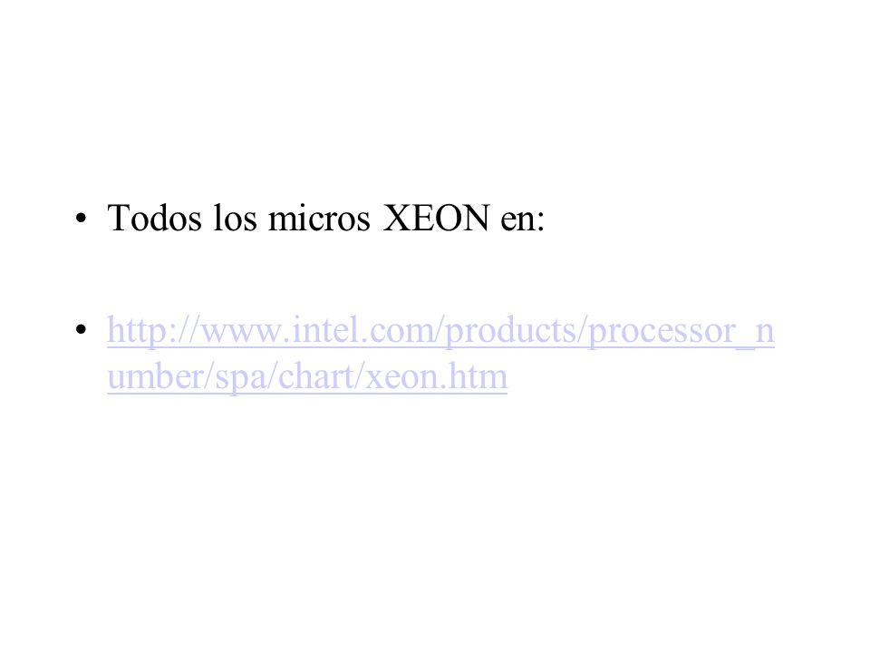 Todos los micros XEON en: