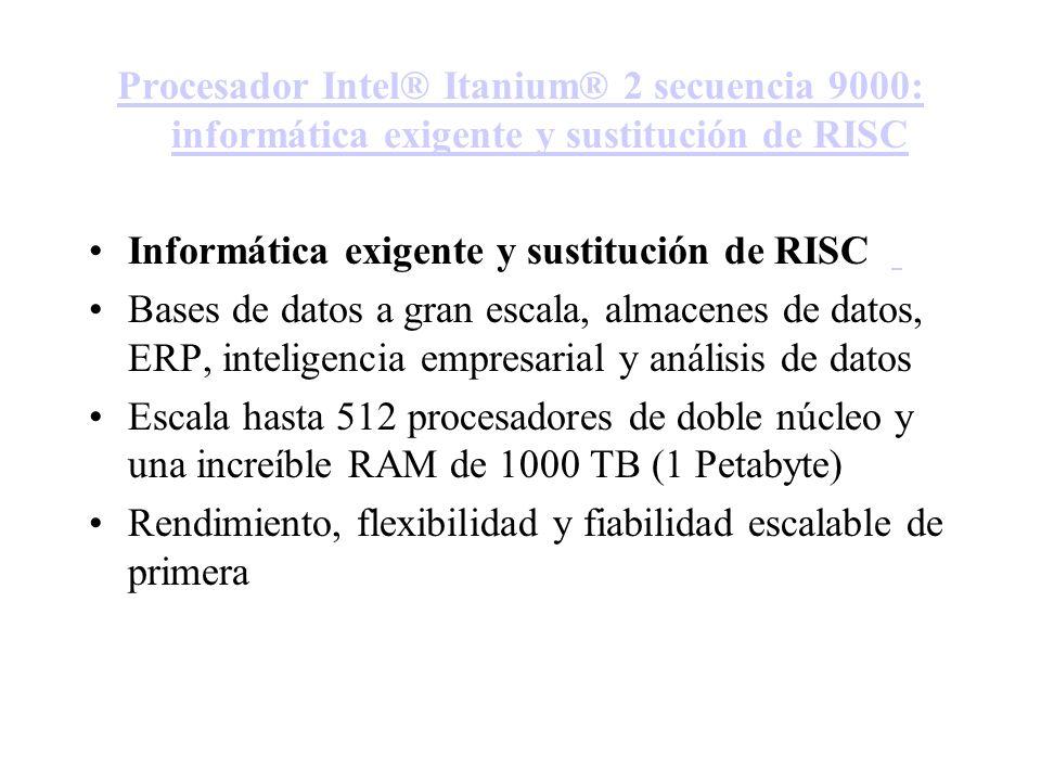Procesador Intel® Itanium® 2 secuencia 9000: informática exigente y sustitución de RISC