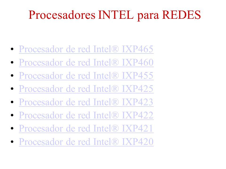 Procesadores INTEL para REDES