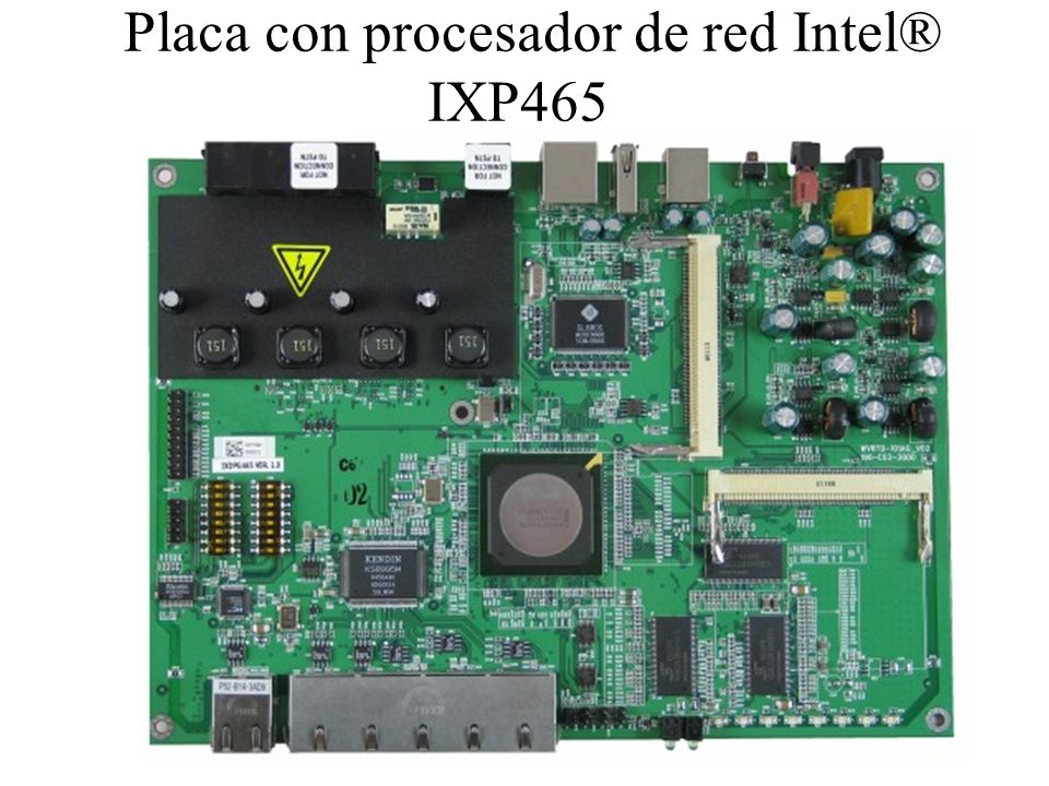 Placa con procesador de red Intel® IXP465