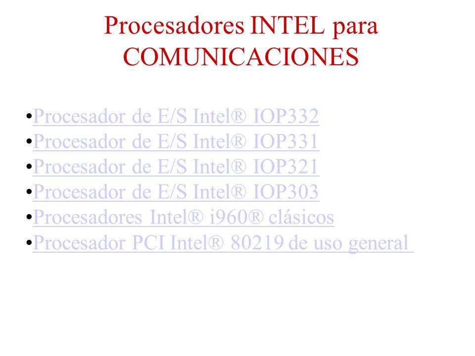 Procesadores INTEL para COMUNICACIONES