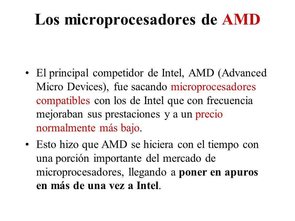 Los microprocesadores de AMD