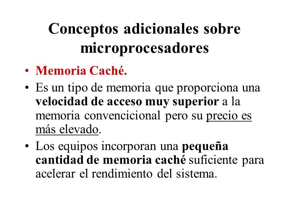 Conceptos adicionales sobre microprocesadores
