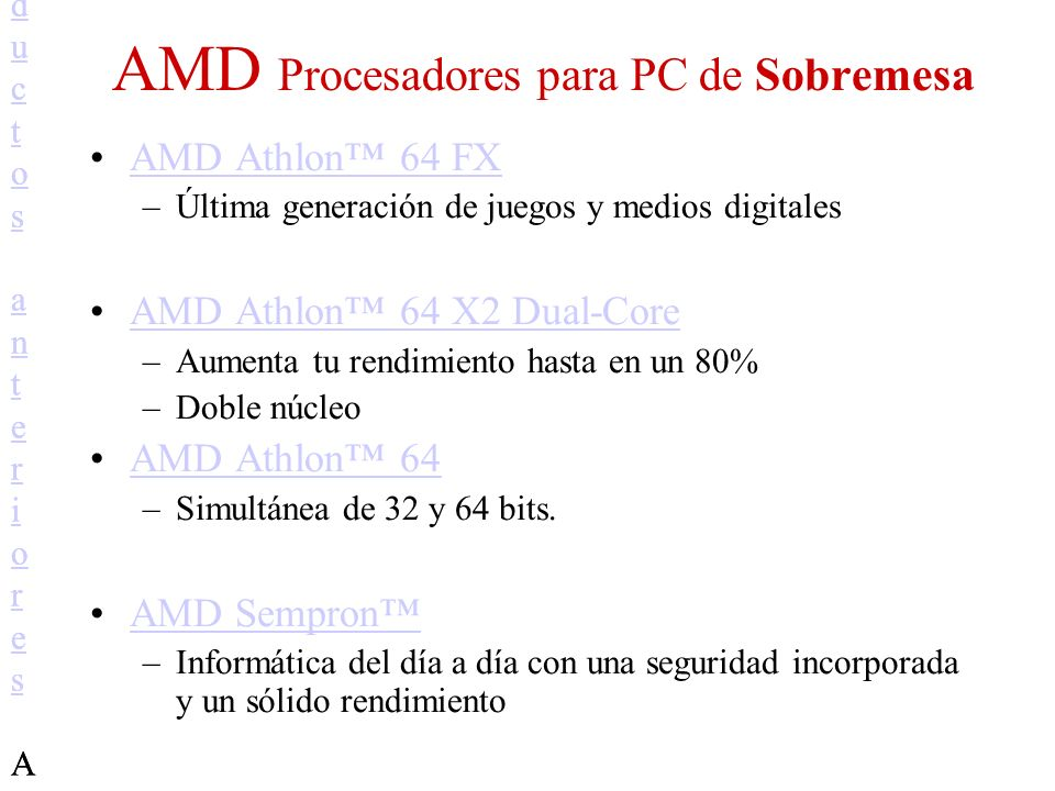AMD Procesadores para PC de Sobremesa