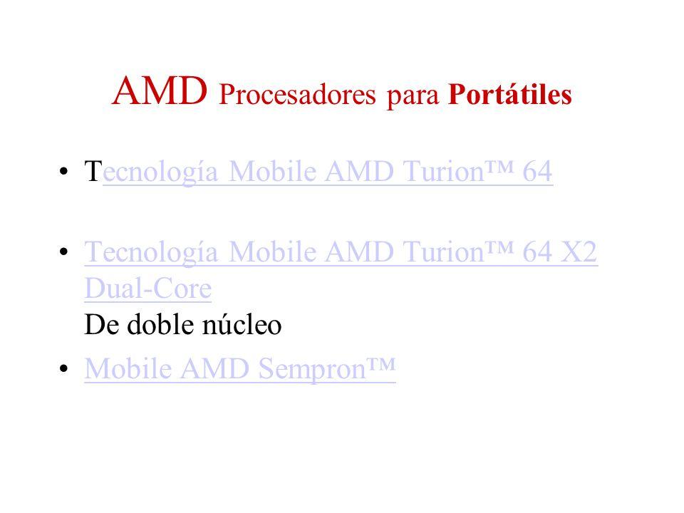 AMD Procesadores para Portátiles