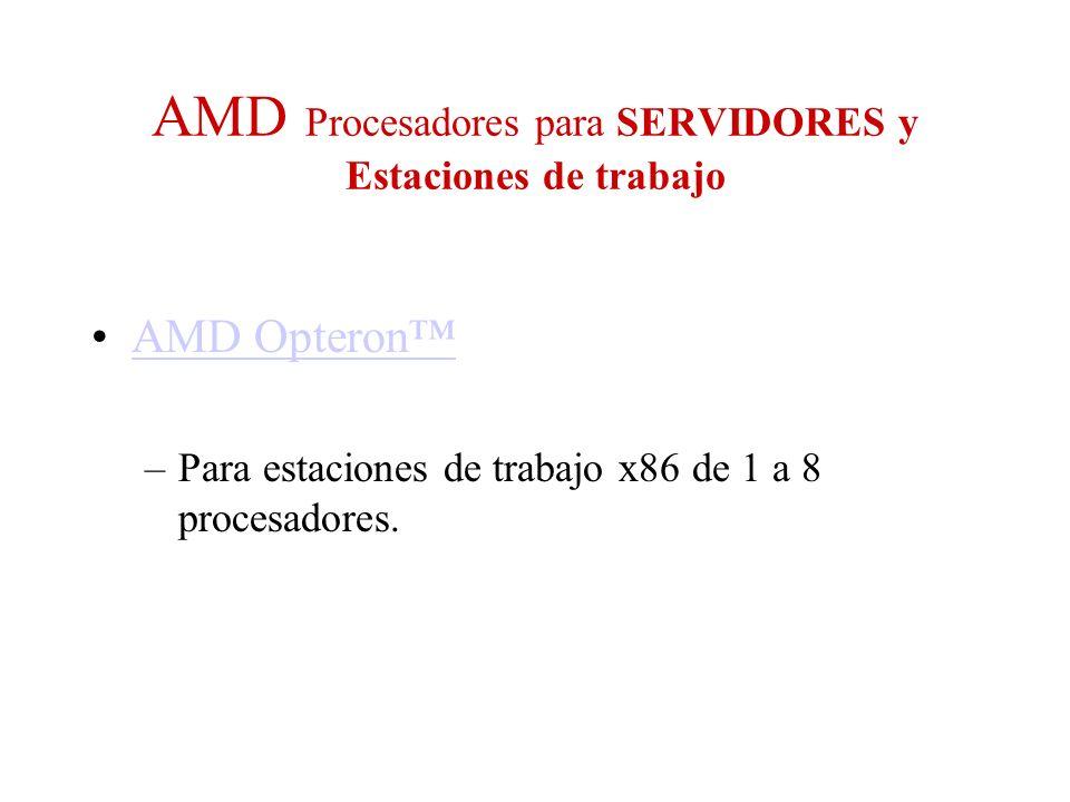 AMD Procesadores para SERVIDORES y Estaciones de trabajo