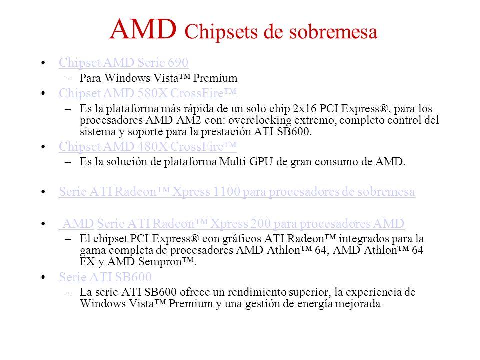 AMD Chipsets de sobremesa