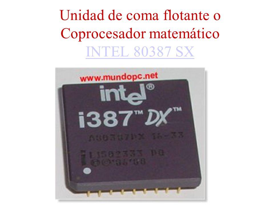 Unidad de coma flotante o Coprocesador matemático INTEL 80387 SX