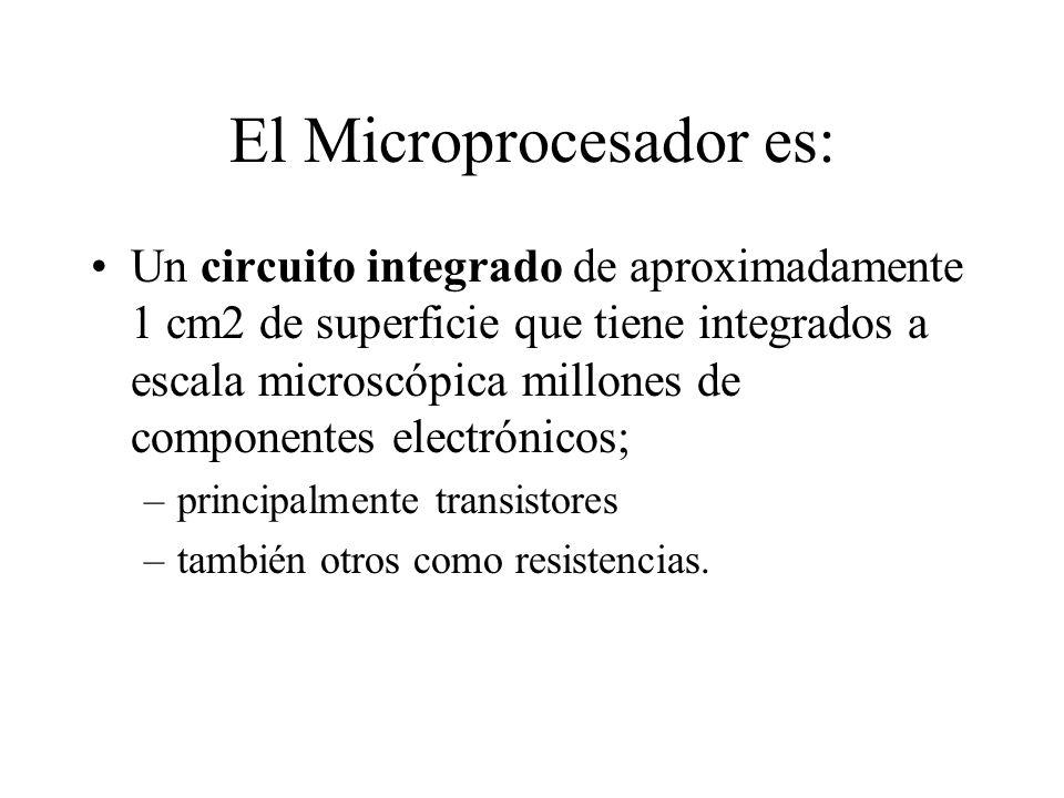 El Microprocesador es: