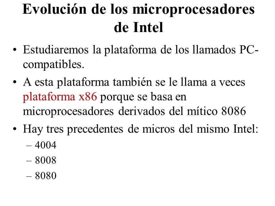 Evolución de los microprocesadores de Intel