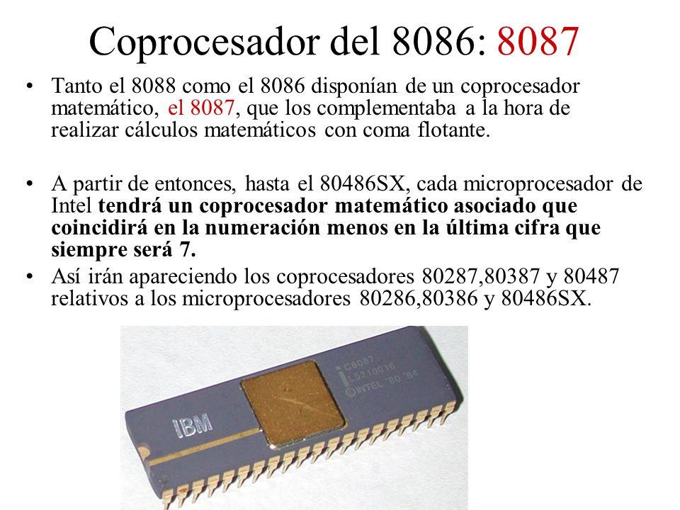 Coprocesador del 8086: 8087