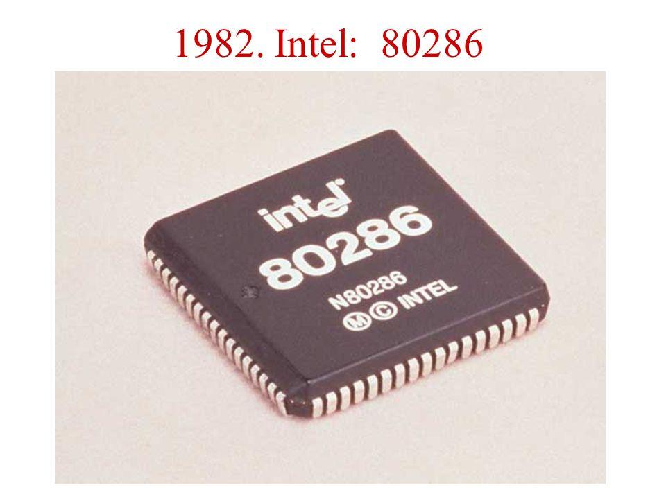 1982. Intel: 80286