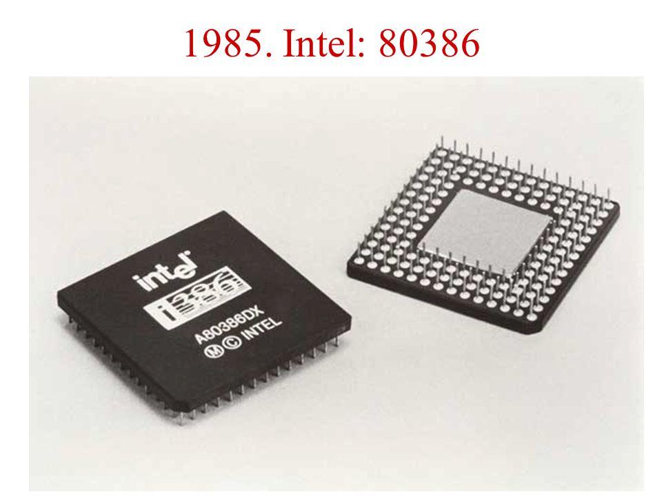1985. Intel: 80386