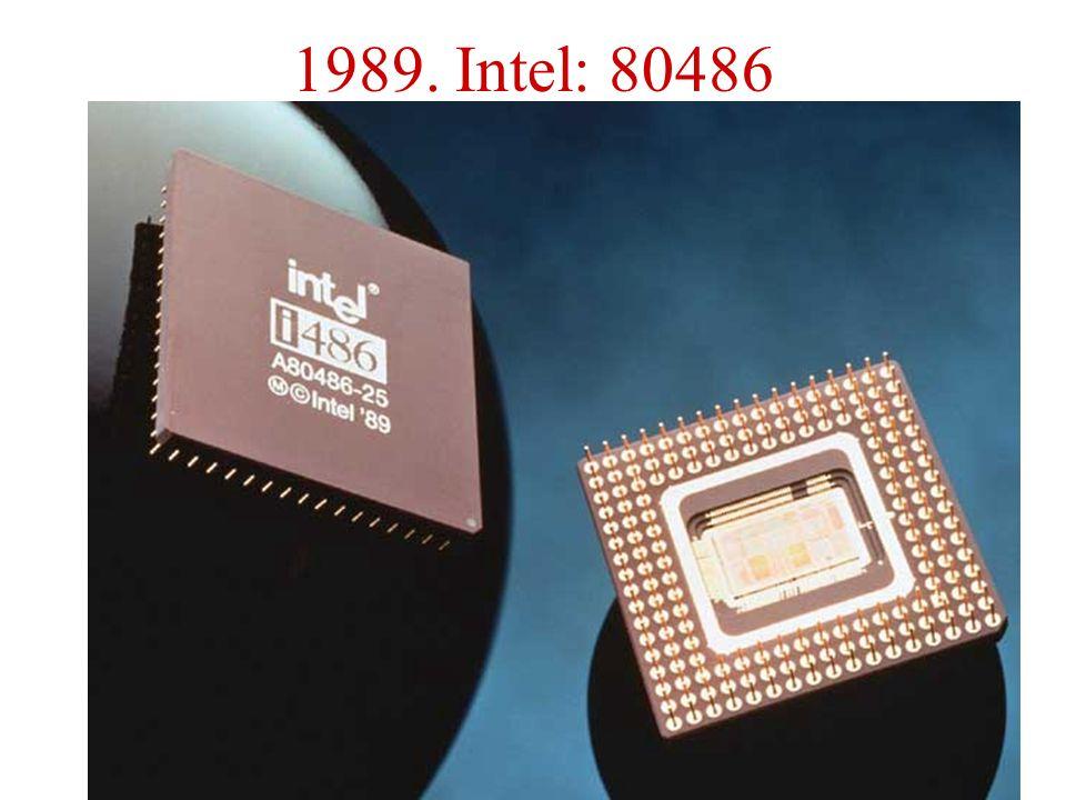 1989. Intel: 80486