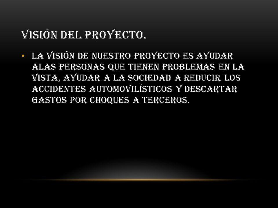visión del proyecto.