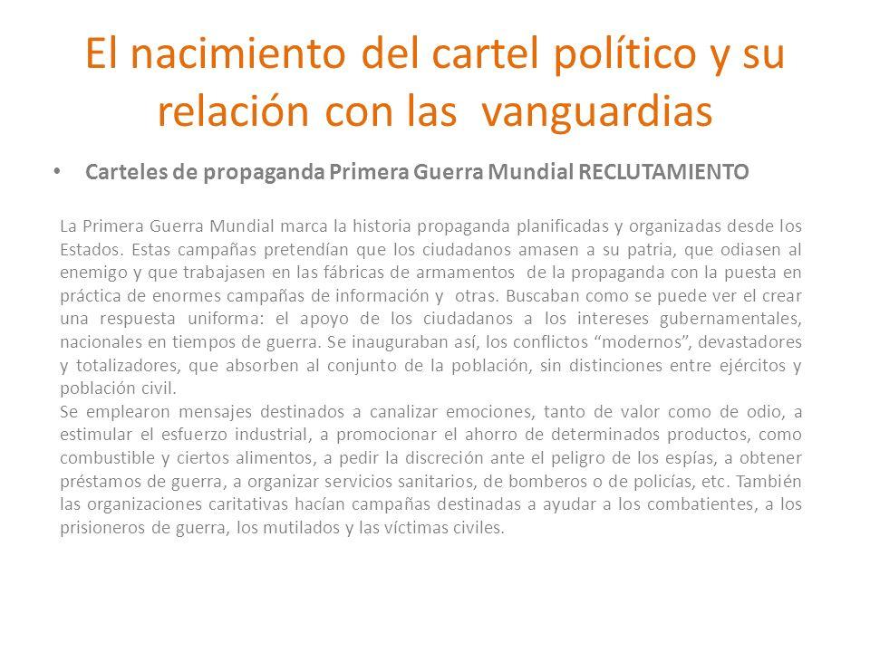 El nacimiento del cartel político y su relación con las vanguardias