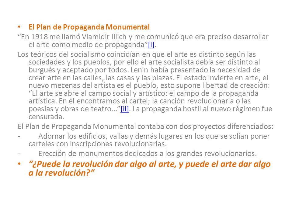 El Plan de Propaganda Monumental