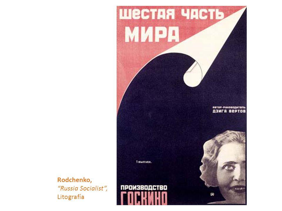 Rodchenko, Russia Socialist , Litografía