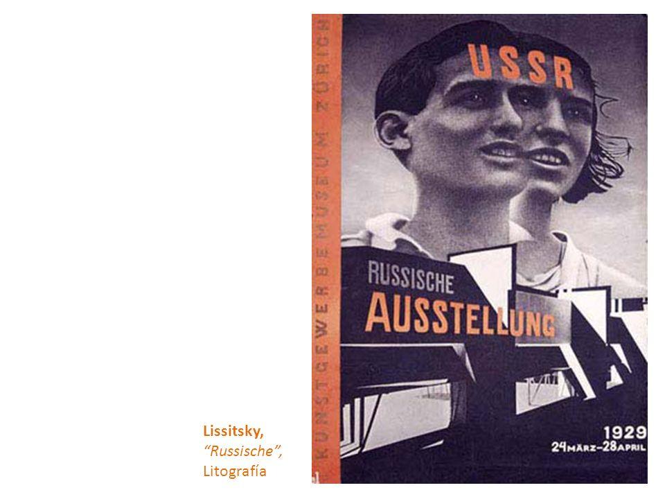 Lissitsky, Russische , Litografía