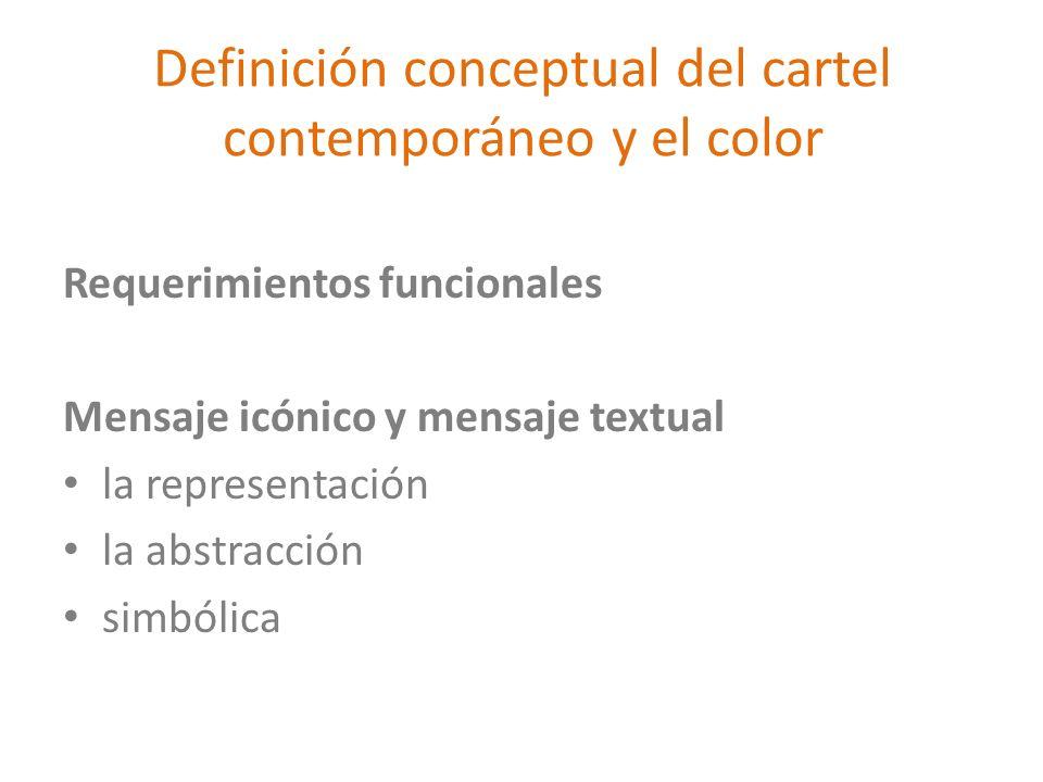 Definición conceptual del cartel contemporáneo y el color