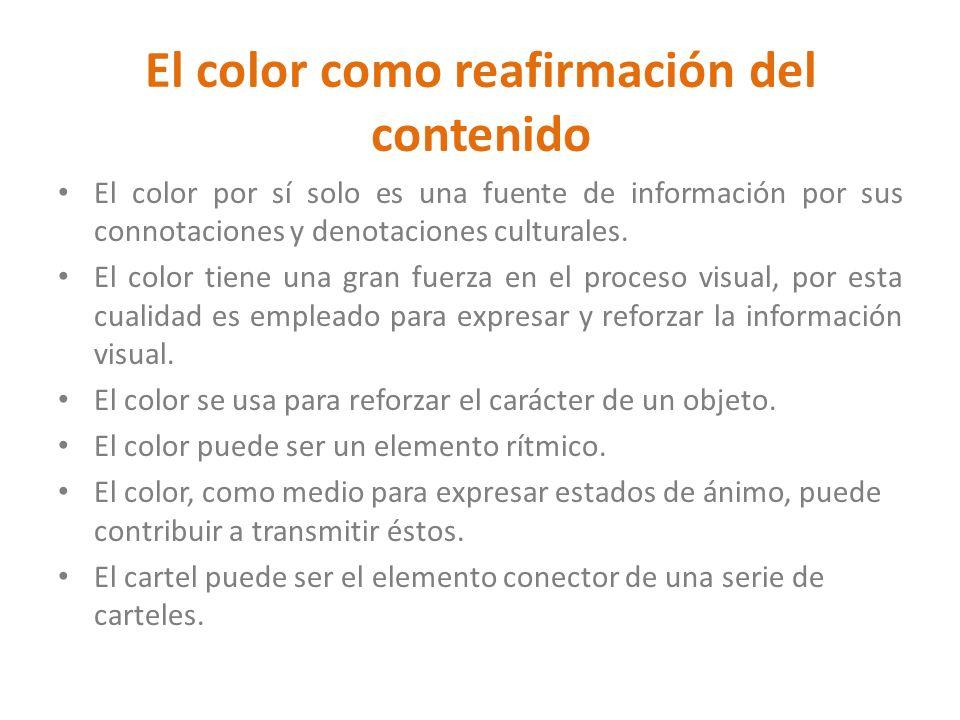 El color como reafirmación del contenido