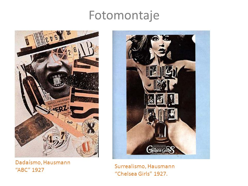 Fotomontaje Dadaísmo, Hausmann ABC 1927 Surrealismo, Hausmann