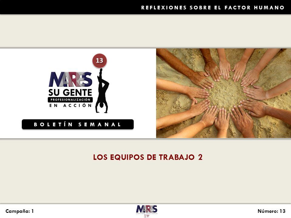 LOS EQUIPOS DE TRABAJO 2 13 Reflexiones sobre el Factor Humano