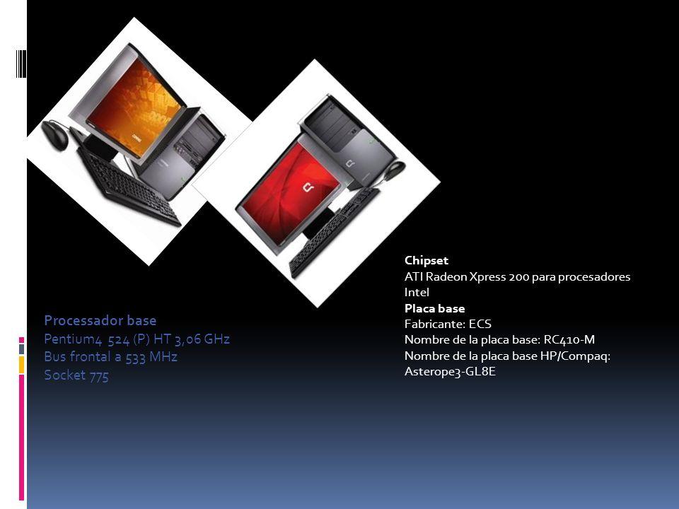 Processador base Pentium4 524 (P) HT 3,06 GHz Bus frontal a 533 MHz